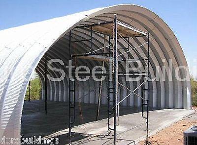 Durospan Steel 40x60x14 Metal Quonset Shop Ag Building Open Ends Factory Direct