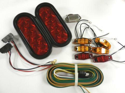 submersible led trailer light kit