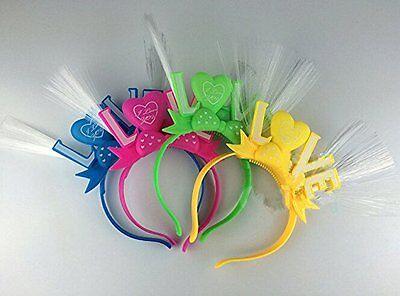 8 pcs Fiber-optic LED Flashing Love Headband Headbands Assorted Colors Party ](Flashing Headbands)