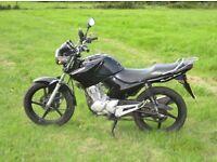 Yamaha YBR125 Motorbike (black)