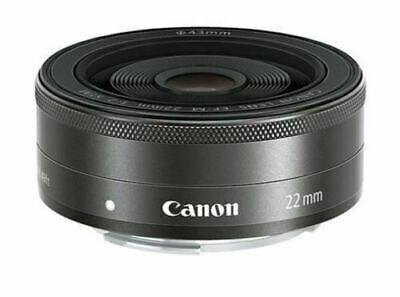 Canon EF-M 22mm F/2 STM Wide Angel Pancake LENS -Black (Bulk Package)