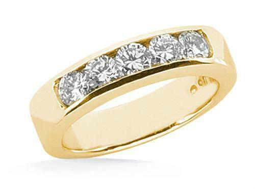 channel set diamond wedding band - Ebay Wedding Ring Sets