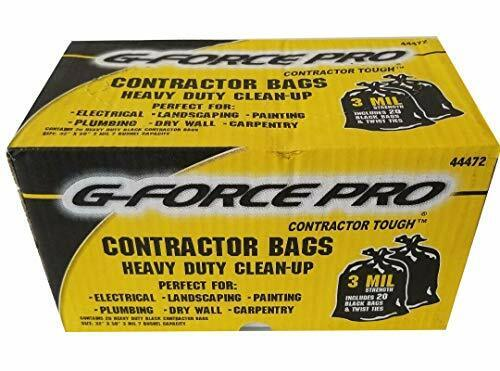 G-Force Pro Contractor Tough Heavy Duty Clean-Up Bags