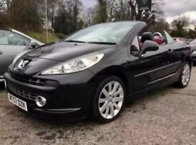 PEUGEOT 207 GT TURBO CC COUPE CONVERTIBLE RED & BLACK LEATHER! NEW MOT!