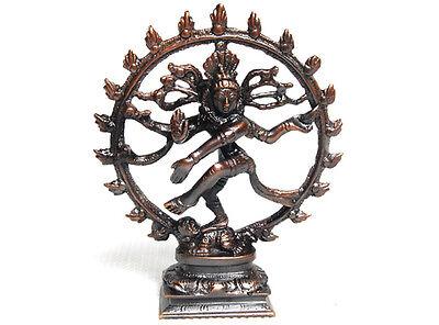 Hindu Dancing Lord Shiva Nataraja Nataraj Dance Solid Metal Brass Bronze Statue