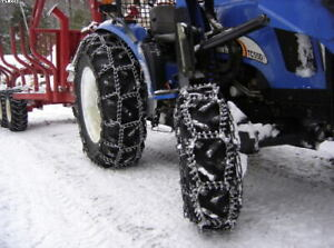 Front tractor tire ice chains in Farming Equipment