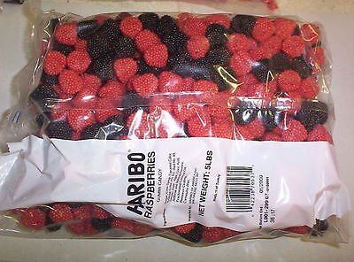 Red and Black Raspberries Gummy Candy Gummi 5 Pounds ()