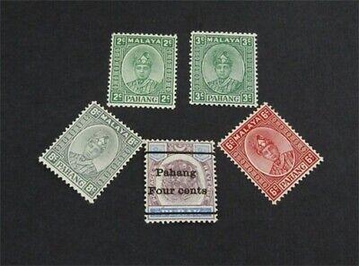 nystamps British Malaya Pahang Stamp # 25//34 Mint OG H $30   L30x2964
