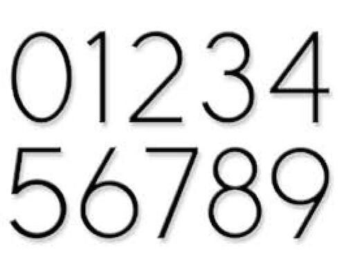 "Hillman Modern 5"" Floating Standoff or Flush Mount House Address Numbers Black"