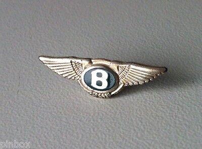 BENTLEY Logo green label 925 Silber Pin 23x7mm [2058]
