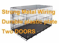 "Dog Cage Crate L91cm 36"" with Cover"