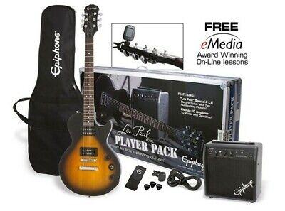 Epiphone Les Paul Electric Guitar Player Pack (Vintage Sunburst) Electric Guitar Player