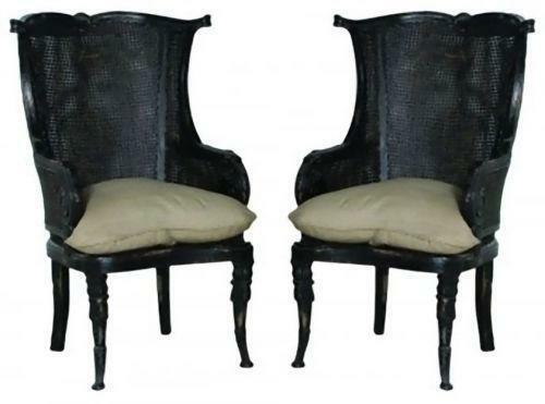 Captivating Pair Wingback Chairs | EBay