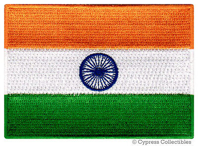 INDIA FLAG embroidered iron-on PATCH INDIAN EMBLEM new applique