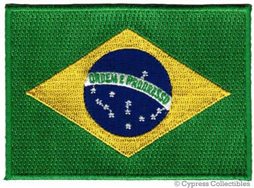 BRAZIL FLAG embroidered iron-on PATCH BRASIL RIO SOCCER NATIONAL EMBLEM applique