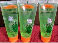 patanjali aloe vera gel 3x60 ml, pamper your skin, remove pimples, wrinkles & gives glowing face