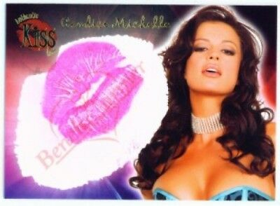 """CANDICE MICHELLE """"KISS CARD"""" BENCHWARMER 2006 SERIES 2"""