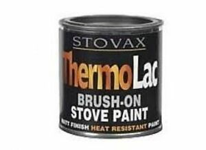 stovax thermolac brush on stove fire paint heat. Black Bedroom Furniture Sets. Home Design Ideas