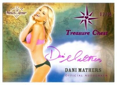 Dani Mathers  Pink Autograph Card  02 25  Benchwarmer Treasure Chest 2015