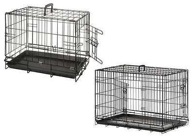 Transport-Drahtbox Gitterbox Gittertransportbox Transportkäfig für Hunde Katzen