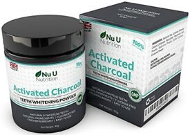 Activated Charcoal Teeth Whitening Powder - 100% Natural - 90g Huge Boxed New & Sealed tub