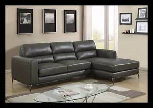 Brand New - Genuine Leather Chaise Sofa HURRY - LAST ONE! Bayswater Bayswater Area Preview