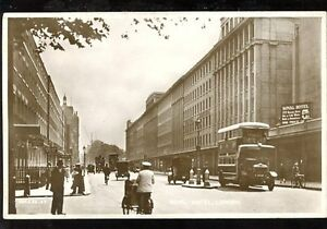 LONDON-street-scene-outside-Royal-Hotel-early-RP-PPC-early-motor-bus-c1920s