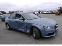 Light damaged 2008 AUDI A4 DIESEL SALOON - 2.0 TDI 143 SE