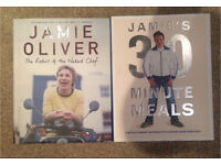 Duo of Jamie Oliver cookbooks