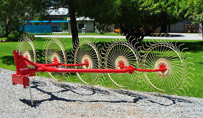 New Enorossi 5 Wheel 3 Pt. Hay Rake -free 1000 Mile Free Delivery From Kentucky