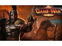 2 Game of War accounts for sale