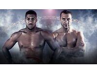 Anthony Joshua v Klitschko boxing tickets Wembley x 6 club seats