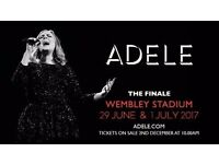 4 x Standing Tickets for the Spectacular Adele The Finale. Sat 1st July Wembley Stadium