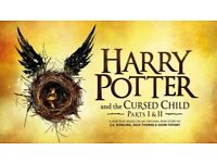 2 Stall Theatre Ticket 'Harry Potter and the Cursed Child' Sat 23rd Sep - Tottenham Court Road