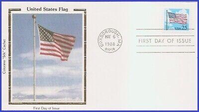 USA3 #2278 U/A COLORANO SILK FDC  Flags And Clouds