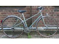 CYRIL GUIMARD - vintage unique french ladies bike - frame size 19inch - serviced & warranty - MINT