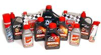 Full line of Motul oil products.