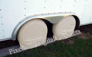 4-WHEEL-TIRE-COVERS-Camper-CAR-TRAILER-TRUCK-RV-28-30-diameter-NEW