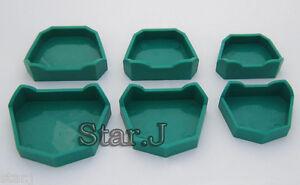 Dental-Lab-Model-Former-Base-Molds-6-pcs-Set-Brand-New