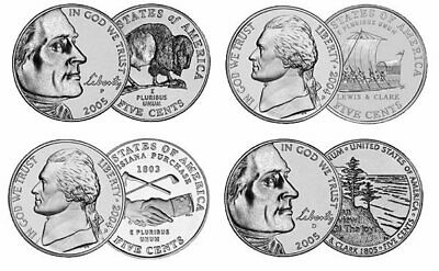 Westward Journey Nickel Set 2004 & 2005 Coin Set - PDS Mint - 12 COINS ()