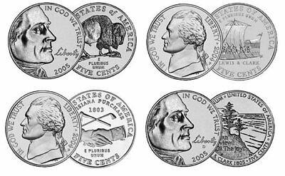 Westward Journey Nickel Set 2004 & 2005 Coin Set - PDS Mint - 12 COINS