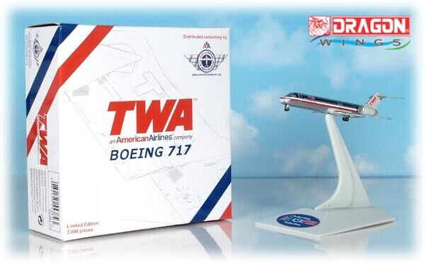 Dragon Wings - TWA LLC [AA] B717-231  CRS002  1:400 Scale