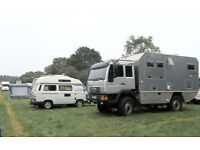 Sizable area for large boat &/or motor home to live near bournemouth