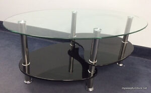 2009 BLACK MOON GLASS COFFEE TABLE- BRAND NEW