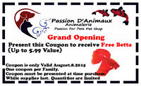 Grand opening Free Betta Aug.08.2015 only