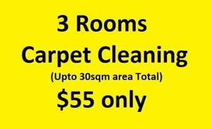 GUMTREE SPECIAL CARPET CLEANING $55 FOR 3 ROOMS (MAX 30 SQM TOTAL AREA