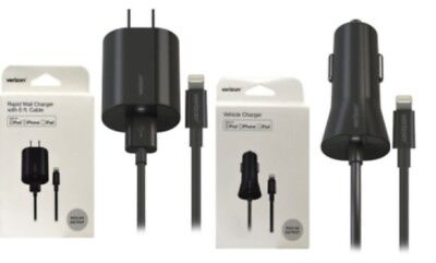 Verizon OEM iPhone/iPad/iPod Wall and Vehicle lighting Charger with 6 ft. Cable  ()