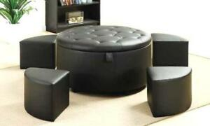 BRAND NEW! STORAGE OTTOMAN WITH 5 SETS ON CLEARANCE