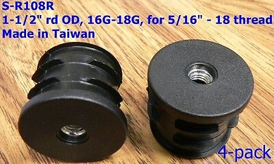 Oajen Caster Socket Furniture Insert For 516 - 18 Thread For 1-12 Od 4 Pcs