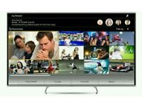 "Panasonic 50"" LED smart 3D wi-fi built HD freeview full Hd 1080p."